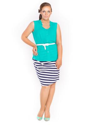 Блузка Lady Sharm Classic. Цвет: зеленый