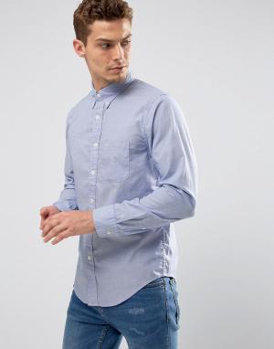 Abercrombie & Fitch Узкая синяя рубашка из поплина. Цвет: синий
