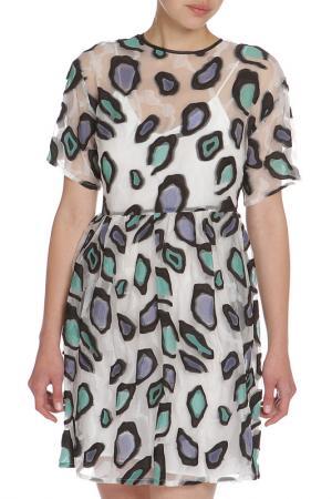 Свободное полупрозрачное платье MSGM. Цвет: цветной