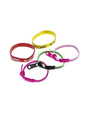 Комплект (Браслет - 5 шт.) Happy Charms Family. Цвет: красный, розовый, желтый, белый, зеленый
