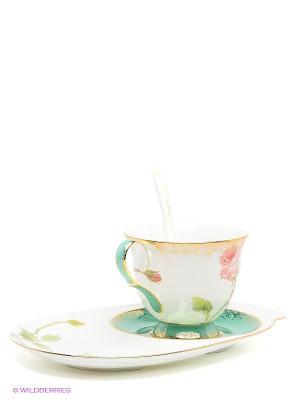 Чайная пара Роза Pavone. Цвет: белый
