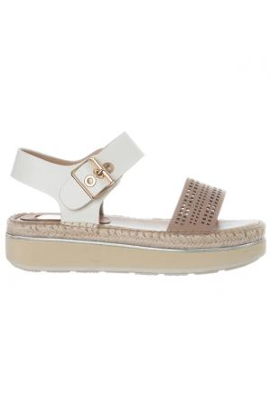 Sandals Laura Biagiotti. Цвет: white and beige