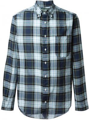 Рубашка в клетку Gitman Vintage. Цвет: синий