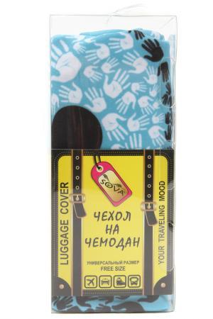 Чехол на чемодан SOVA COVER. Цвет: инь-янь