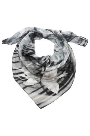 Платок F.FRANTELLI. Цвет: серый, черный