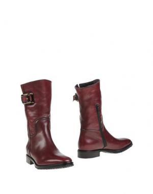 Полусапоги и высокие ботинки BERTO GIANTIN. Цвет: красно-коричневый