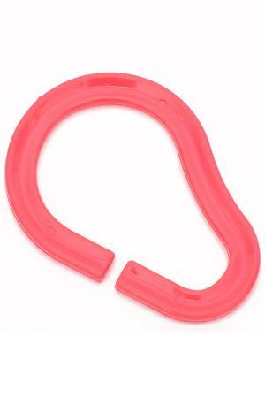 Кольца для занавесок в ванную MOROSHKA KIDS. Цвет: красный