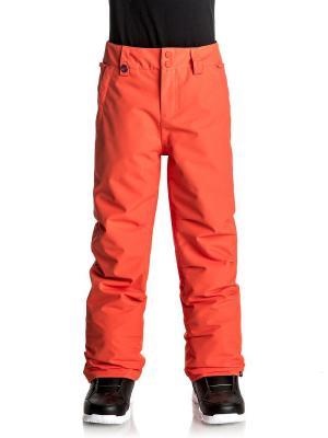 Брюки Quiksilver. Цвет: оранжевый, рыжий