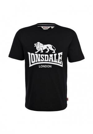 Футболка Lonsdale. Цвет: черный