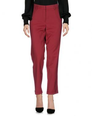 Повседневные брюки LUISA CERANO. Цвет: красно-коричневый