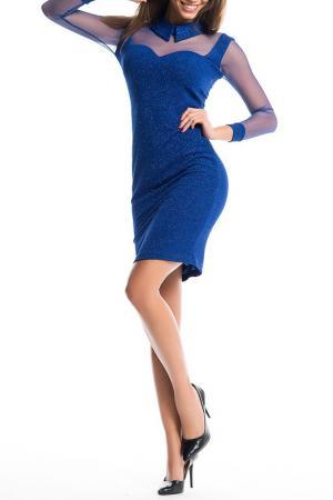 Платье Ironi. Цвет: синий