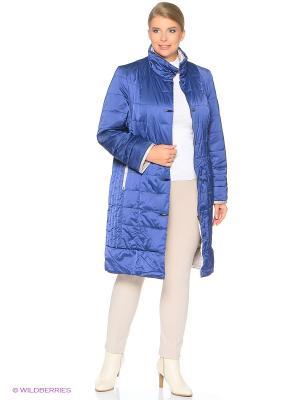 Утепленное пальто MONTSERRAT. Цвет: синий, серый