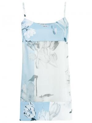Printed blouse Gloria Coelho. Цвет: синий