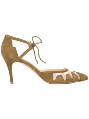 Туфли на среднем каблуке Bionda Castana. Цвет: зелёный