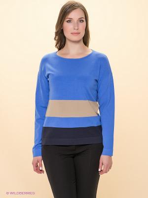 Кофточка Betty Barclay. Цвет: голубой, бежевый, темно-синий