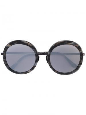 Круглые солнцезащитные очки Sunday Somewhere. Цвет: чёрный