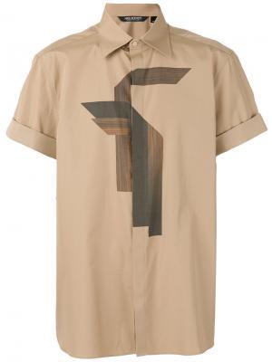 Рубашка с короткими рукавами Neil Barrett. Цвет: телесный