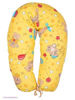 Подушка для беременных и кормящих ФЭСТ. Цвет: светло-желтый, горчичный
