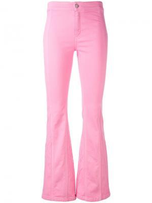 Расклешенные брюки Givenchy. Цвет: розовый и фиолетовый