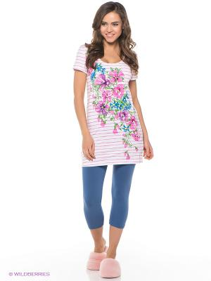 Пижама PELICAN. Цвет: синий, розовый