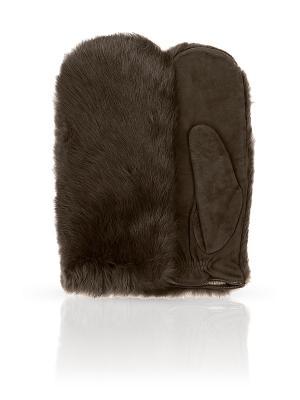 Варежки Dali Exclusive. Цвет: коричневый
