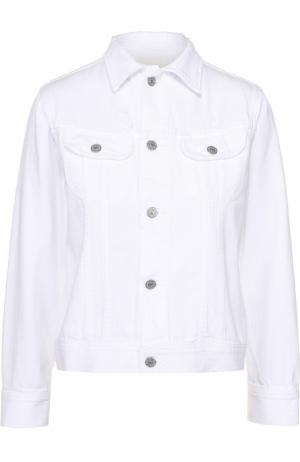Джинсовая куртка прямого кроя с накладными карманами Citizens Of Humanity. Цвет: белый