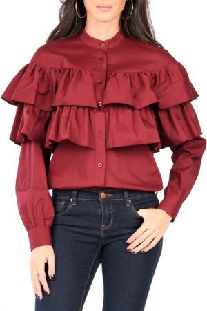 Рубашка CARLA BY ROZARANCIO. Цвет: bordeaux