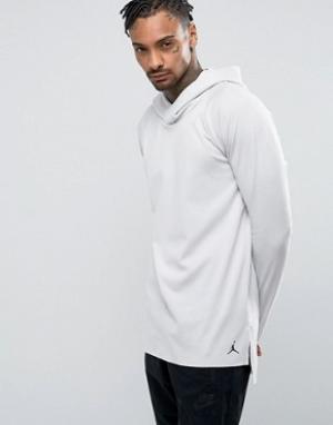Jordan Худи с рукавами реглан Nike Lux 834541-072. Цвет: бежевый