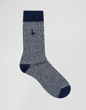 Jack Wills Темно-синие толстые носки. Цвет: темно-синий