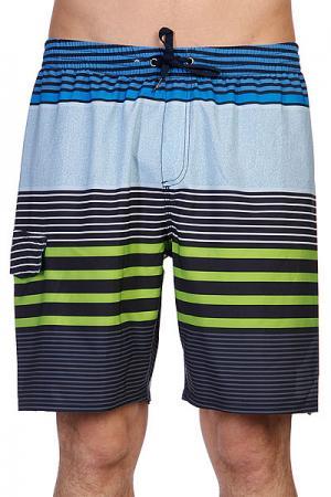 Шорты пляжные  Mays Hayes Volley E19 Navy Quiksilver. Цвет: голубой,черный