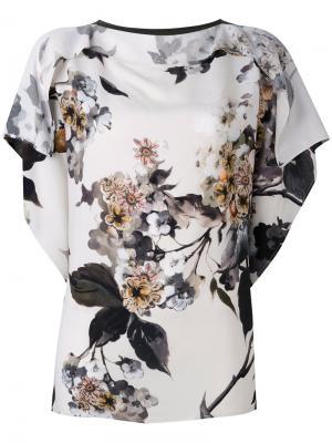 Блузка с цветочным принтом Antonio Marras. Цвет: многоцветный