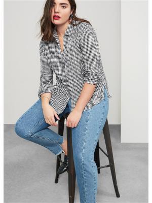 Блузка - LICHY Violeta by Mango. Цвет: черный