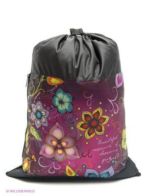 Мешок для обуви UNION. Цвет: черный, салатовый