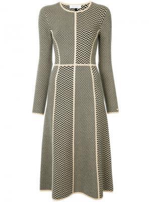 Трикотажное платье с геометрическим узором Gabriela Hearst. Цвет: чёрный