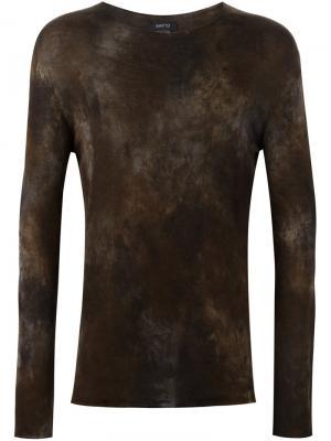 Джемпер с эффектом тай-дай Avant Toi. Цвет: коричневый