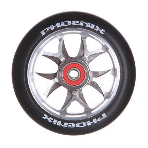 Колесо для самоката  F8 Alloy Core Wheel 110mm With Abec 9 Bearings Titanium/Black Phoenix. Цвет: черный,серый