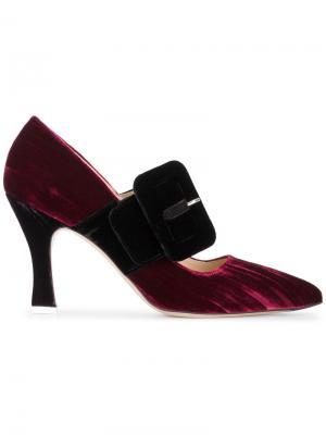Туфли Elsa с пряжками Attico. Цвет: красный