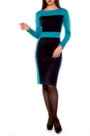 Платье Majaly. Цвет: бирюзовый, темно-синий
