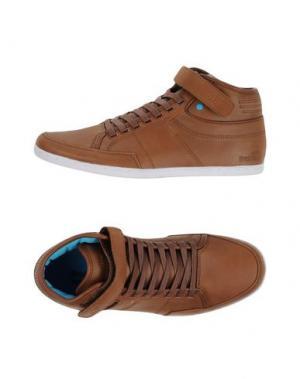 Высокие кеды и кроссовки BOXFRESH. Цвет: коричневый