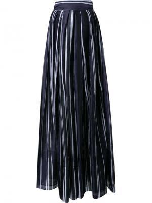 Плиссированные широкие брюки Martin Grant. Цвет: синий