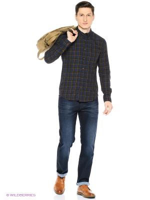 Рубашка Wrangler. Цвет: коричневый