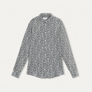 Рубашка женская CLONEY HARTFORD. Цвет: белый/ серый