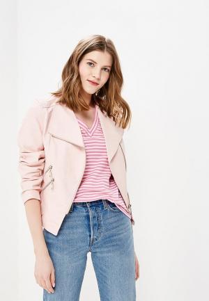 Куртка кожаная So Sweet. Цвет: розовый