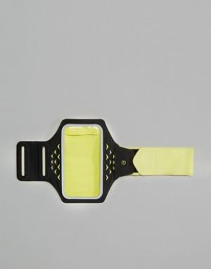 Hama Желтый браслет на предплечье с держателем для телефона и светодиодными. Цвет: желтый