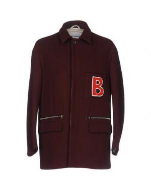 Пальто UMIT BENAN. Цвет: красно-коричневый
