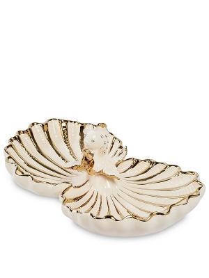 Менажница Золотая Рыбка (Art Ceramic) Cervena kostka. Цвет: белый, золотистый