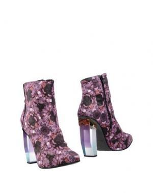 Полусапоги и высокие ботинки MIISTA. Цвет: светло-фиолетовый
