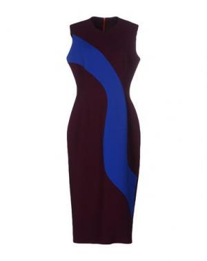 Платье до колена ROKSANDA. Цвет: баклажанный