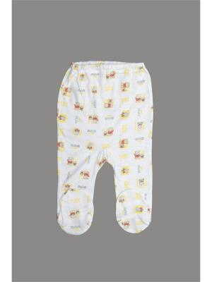 Ползунки ORANGE BABY. Цвет: белый, желтый