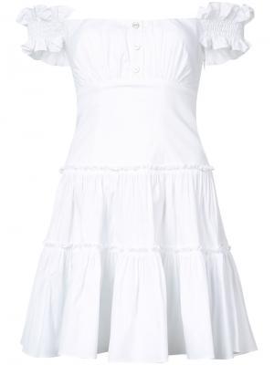 Платье-бюстье Maria Caroline Constas. Цвет: белый
